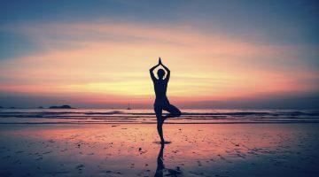 Practice yoga in India